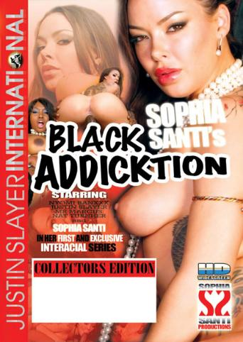 Sophia Santi Black Addicktion from Justin Slayer front cover