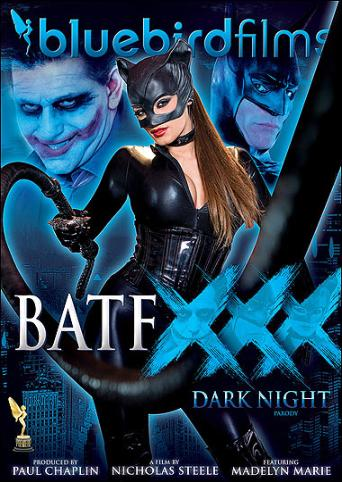 BatfXXX Dark Night Parody from Bluebird Films front cover