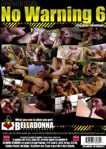 No Warning 6 from Evil Angel: Belladonna back cover