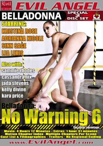 No Warning 6 from Evil Angel: Belladonna front cover