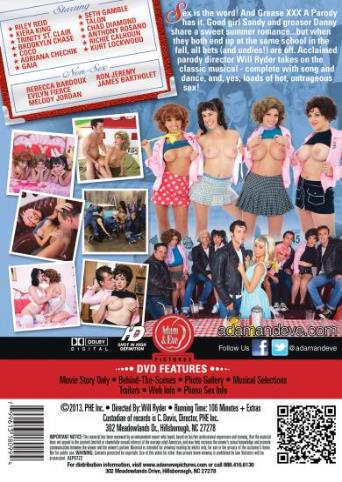 Grease XXX A Parody from Adam & Eve back cover