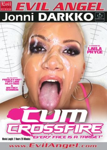 Cum Crossfire from Evil Angel: Jonni Darkko front cover
