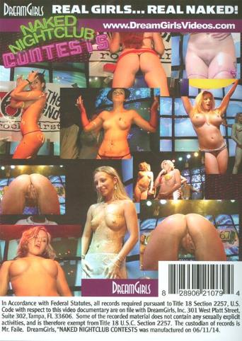 Naked Nightclub Contests from DreamGirls back cover