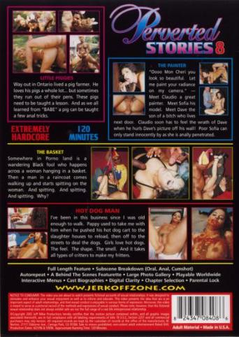 Perverted Stories 8 from JM Productions back cover