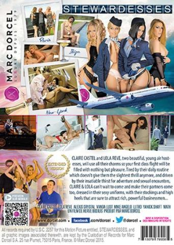 Stewardesses from Marc Dorcel back cover