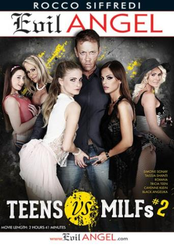 Teens vs. MILFs 2 from Evil Angel: Rocco Siffredi front cover