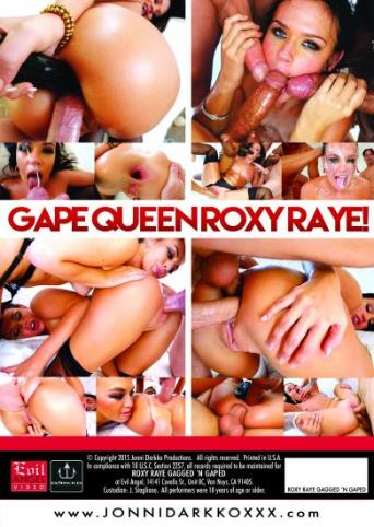 Roxy Raye Gagged 'N Gaped from Evil Angel: Jonni Darkko back cover