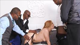 My First Interracial Gangbang
