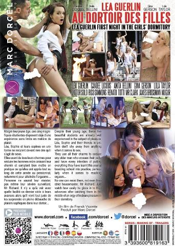 Lea Guerlin First Night In The Girls' Dormitory from Marc Dorcel back cover