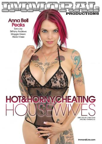 Hot And Horny Cheating Housewives from Immoral Productions front cover
