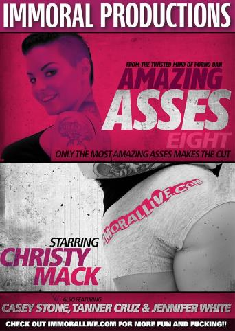 Amazing Asses 8 from Immoral Productions front cover