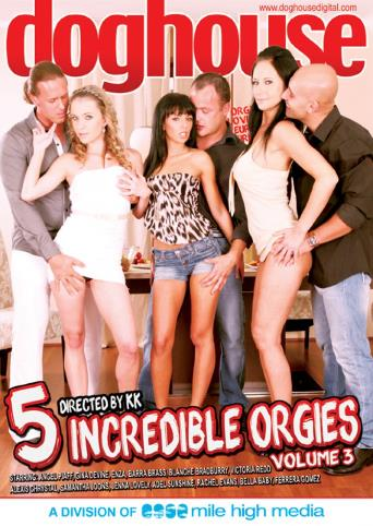 5 Incredible Orgies 3 from Doghouse front cover