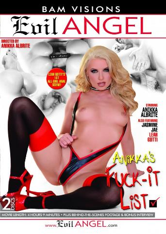 Anikka's Fuck-It List from Evil Angel front cover
