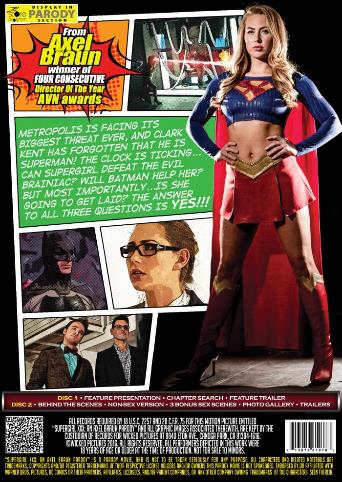 Supergirl XXX An Axel Braun Parody from Wicked back cover