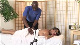 Interracial Massage Scene 1