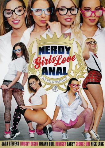 Nerdy Girls Love Anal from Alex Romero front cover