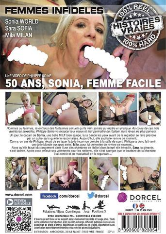 Sonia 50 And Easy As Fuck from Marc Dorcel back cover