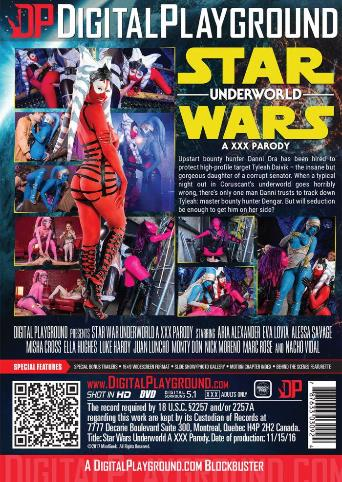 Star Wars Underworld A XXX Parody from Digital Playground back cover