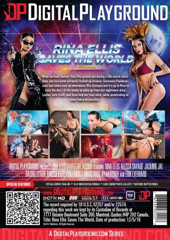 Rina Ellis Saves The World from Digital Playground back cover