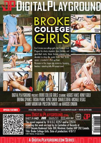 Broke College Girls from Digital Playground back cover