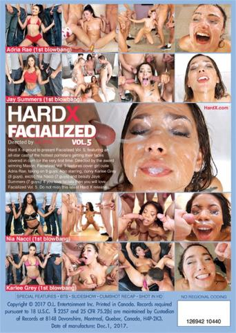 Facialized 5 from Hard X back cover