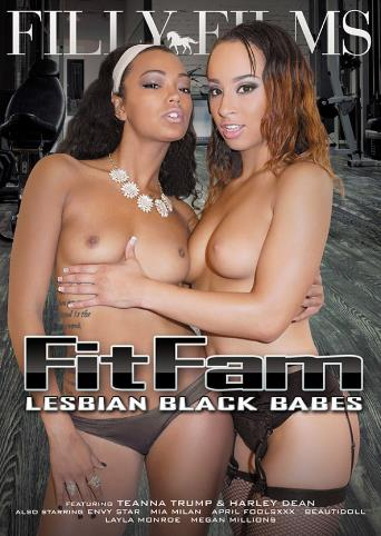 Fitfam Lesbian Black Babes from Filly Films front cover