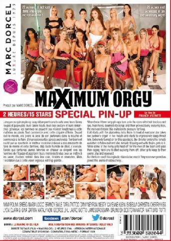 Maximum Orgy Special Pin-Up from Marc Dorcel back cover