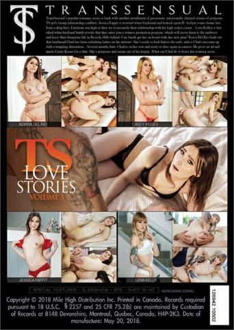 Ts Love Stories 3 from Transsensual back cover