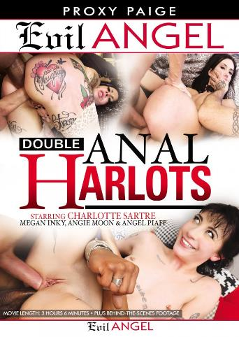 Double Anal Harlots from Evil Angel front cover