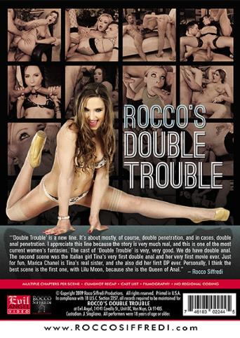 Rocco's Double Trouble from Evil Angel: Rocco Siffredi back cover