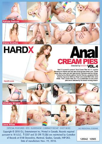 Anal Cream Pies 4 from Hard X back cover