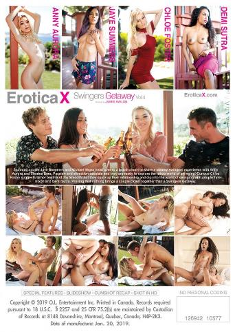 Swingers Getaway 4 from Erotica X back cover