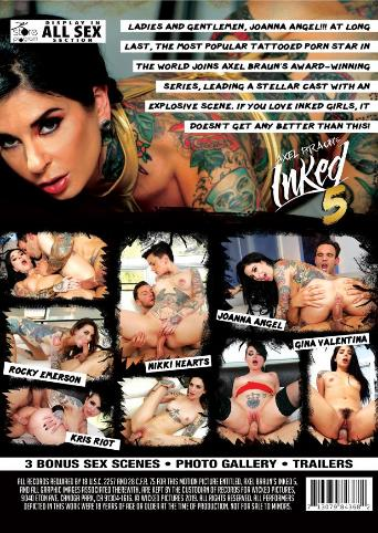 Axel Braun's Inked 5 from Wicked back cover